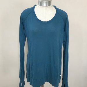 Blue FABLETICS Hooded Long Sleeve T-shirt Size L